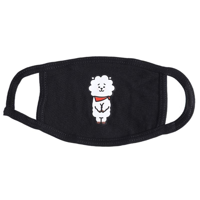 Women Men Unisex Cotton Half Face Mouth Mask Kpop Colorful Cute Cartoon Animal Printed Dustproof Muffle Respirator