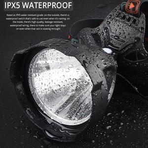 Image 2 - LED headlamp 7500 Lumens Headlight USB Rechargeable Super Bright LED Hardhat Light,Hard Hat Head Lamp Powerful use 18650