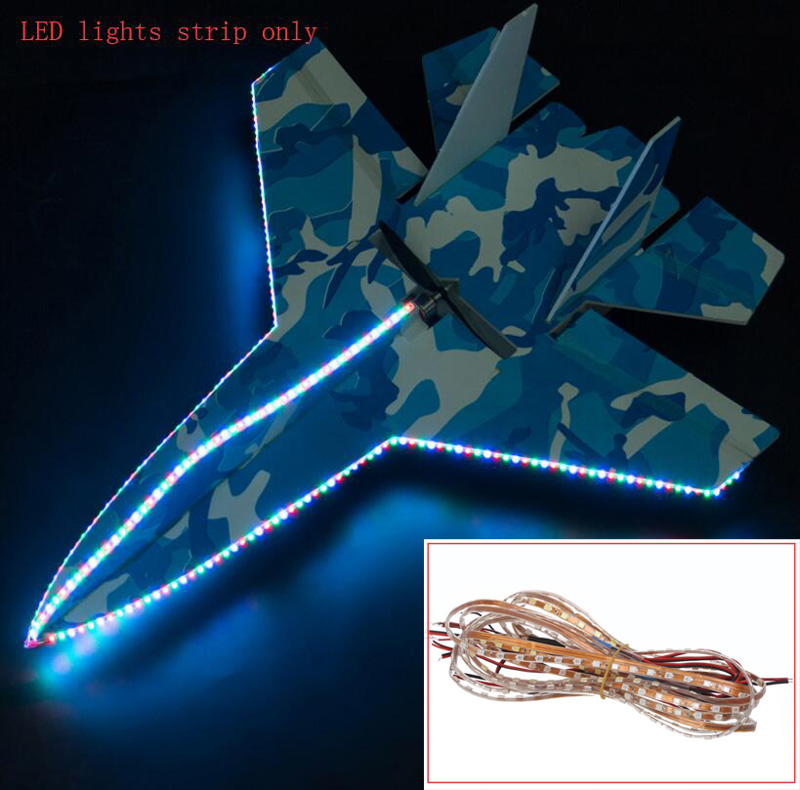 5PC RC Model 90cm Decoration LED Lights Strip 12V Waterproof Brightness DIY Lamp For FPV Fixwing Airplane SU27 Parts light belt