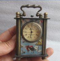 8.8 cm */Çin antik bakır el oyması kullanabilirsiniz mekanik saat zamanlayıcı/(Rastgele Göndermek)