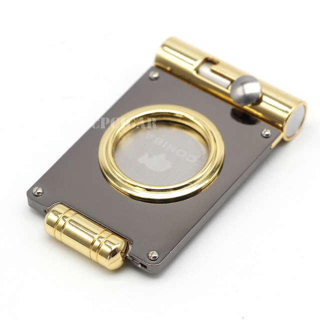 Cigar Gadgets Multi-use Cigar Cutter Punch Sharp Blade Cigars Cutter Portable Guillotine New Cohiba Cutters with Gift Box