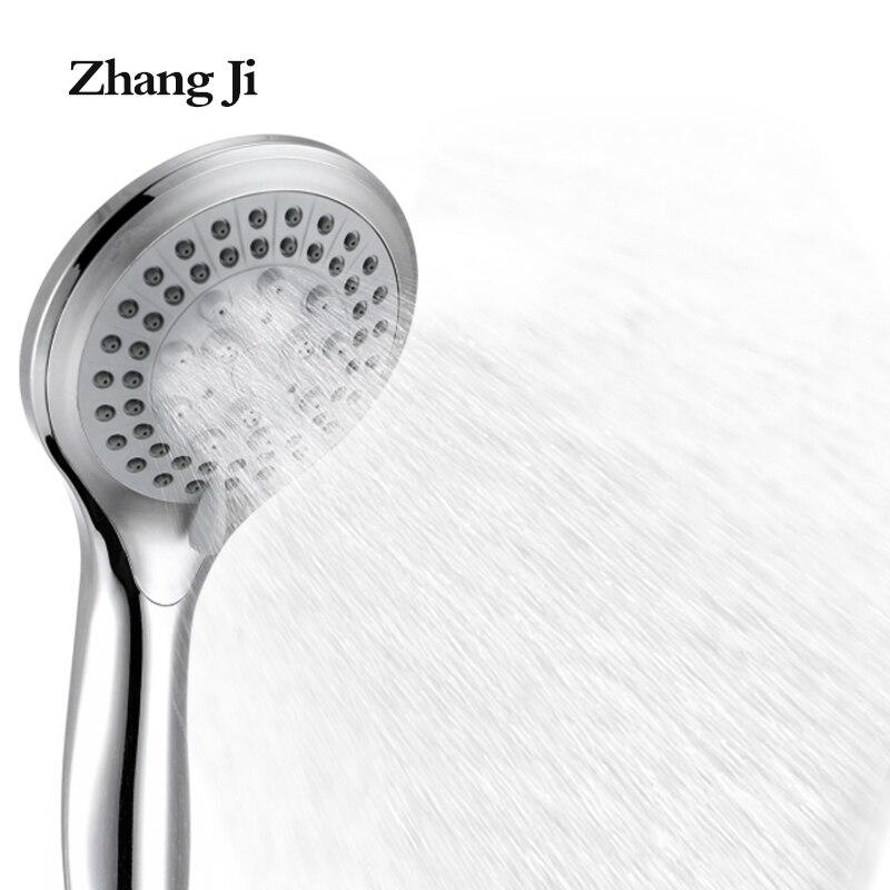 5 modes ABS plastic Bathroom shower head big panel round Chrome rain head Water saver Classic design G1/2 rain showerhead ZJ039 poiqihy chrome rain