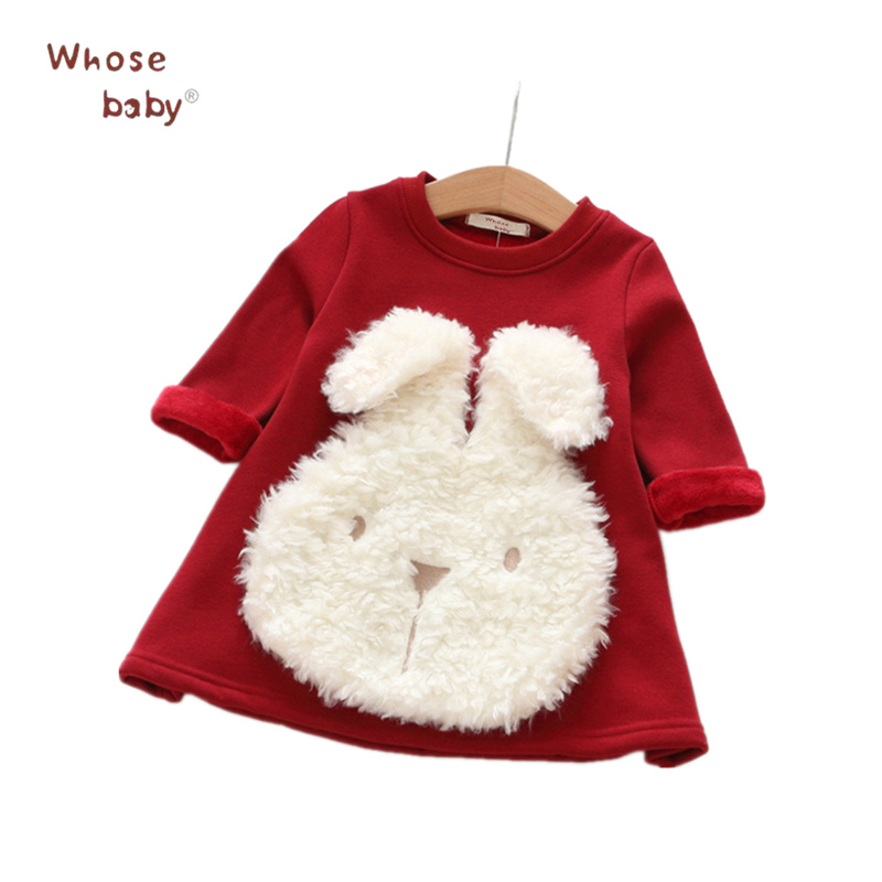 New Year Bunny Girls Dresses Princess Cute Thickening Rabbit Dresses For Girl Party Children Clothing Infant Kids Winter Costume new girls dress spring children clothing infant princess dresses for girls baby girl clothes costume for kids