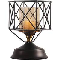 Europe Retro Creative Iron Hollow Candlestick Ornaments Home Decoration Desktop Candle Holder Living Room Decor Wedding Gifts