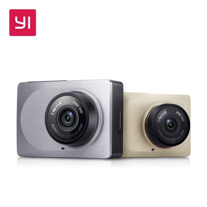 YI Traço Camera 2.7 tela Full HD 1080 P 60fps 165 graus lente Grande-Angular DVR Carro Traço Cam com G-Sensor de Internacional Visão noturna