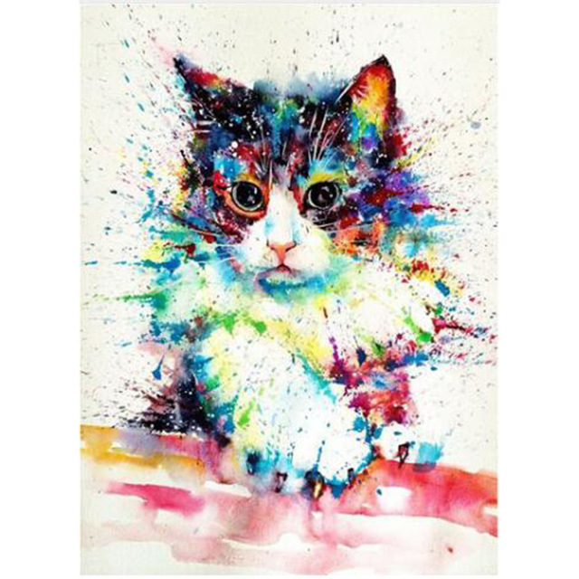 Full Round Diamond Painting katten Kat Cat Embroidery Mozaika Diament Painting Rhinestones Broderie Needlework Homlif