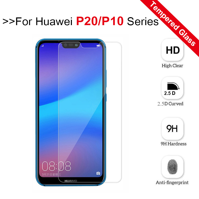 SONWO Huawei P20 Lite Screen Protector 2-Pack Case-Friendly Compatible with Huawei P20 Lite Full Coverage Tempered Glass Screen Protector Film