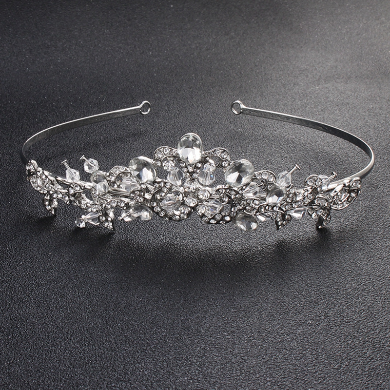 Snow White Princess Crown Tiara Fine Hair Accessories For Wedding Birthday Party Bride Bridesmaid Hair Jewelry Fashion Tiaras