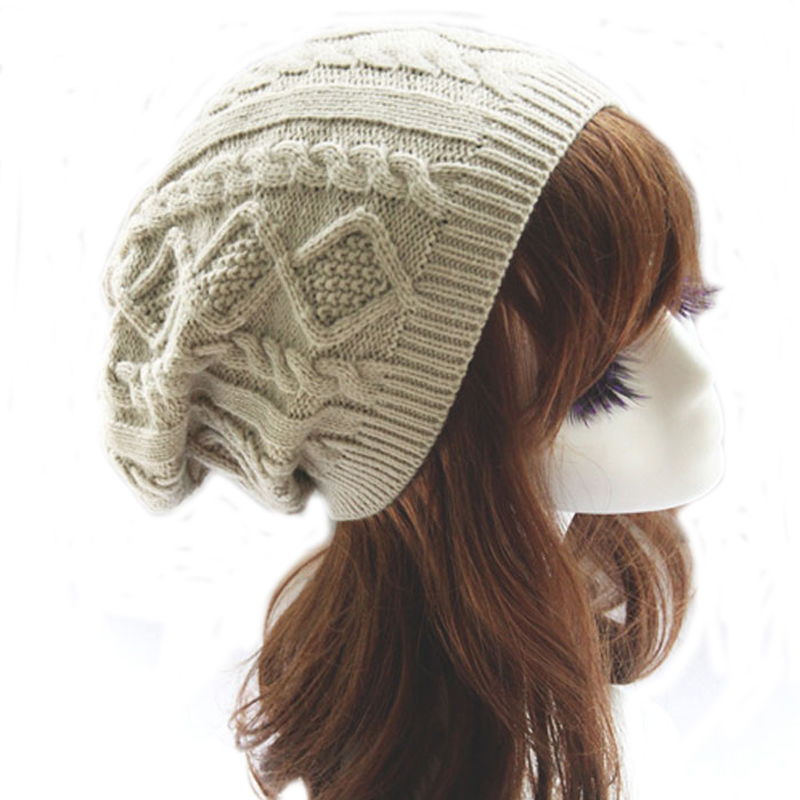500pcs/lot Women New Design Caps Twist Pattern Women Winter Hat Knitted Sweater Fashion beanie Hats For Women 6 colors gorros