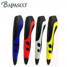 New BAPASCO 06B New 3D Printing Pen PCL Filaments Smart 3D Pen DIY Magic 3D Painting Pen for kids Drawilng tools pen accessories