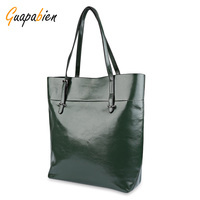 High Quality Leather Women Shopping Bag Casual Ladies Shoulder Bags Solid Big Handbag Large Capacity Zipper