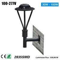 decorative ETL DLC 50W comercial led light wall mount or post top lamp