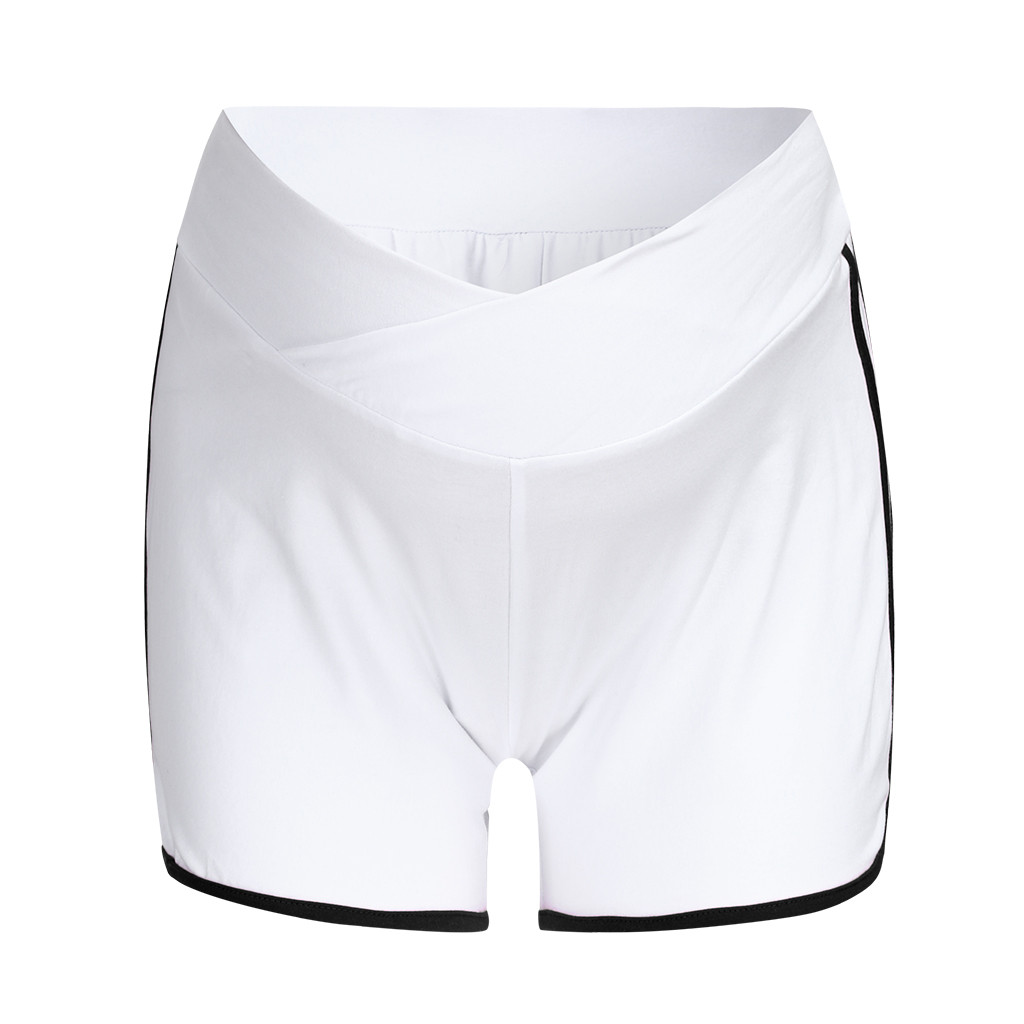 ARLONEET летние шорты для беременных с низкой талией, тонкие хлопковые шорты, Одежда для беременных женщин, повседневная спортивная одежда для беременных - Цвет: WH