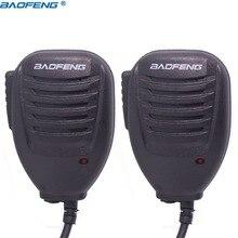 2 шт. Baofeng UV-5R UV82 BF-888S PTT портативной громкоговоритель микрофон ручной микрофон для Kenwood Pofung UV5R UV82 8 Вт Портативный радио