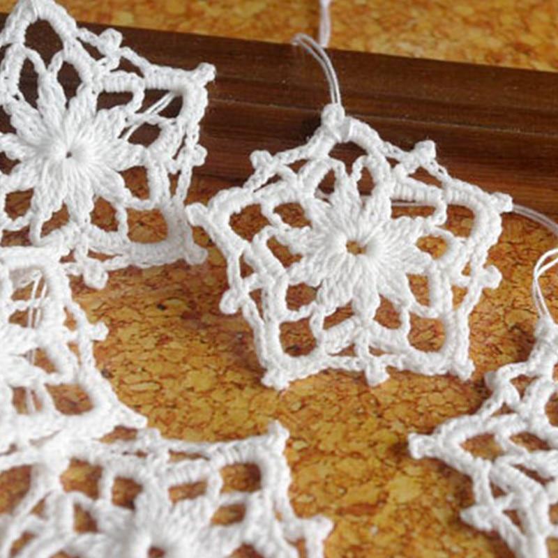 ganchillo copo de nieve ornamento de la estrella ganchillo colgando adornos adornos de navidad copos de