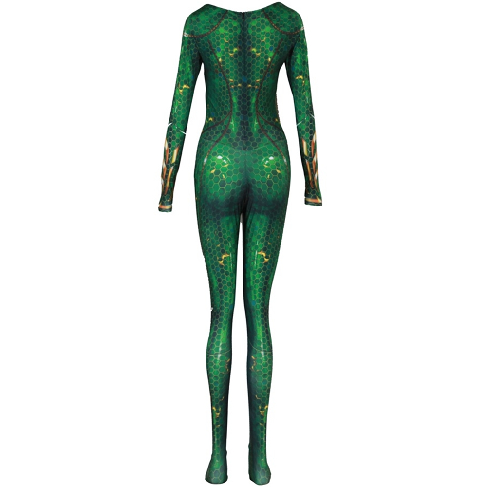 Image 4 - New Women Kids Movie Aquaman Mera Queen Cosplay Costume Zentai Bodysuit Suit Jumpsuits-in Movie & TV costumes from Novelty & Special Use
