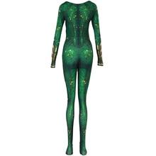 Green long sleeve bodysuit Kids Women ladies female Bodysuit Aquaman Cosplay Costume