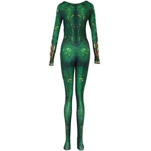 Image 4 - New Women Kids Movie Aquaman Mera Queen Cosplay Costume Zentai Bodysuit Suit Jumpsuits