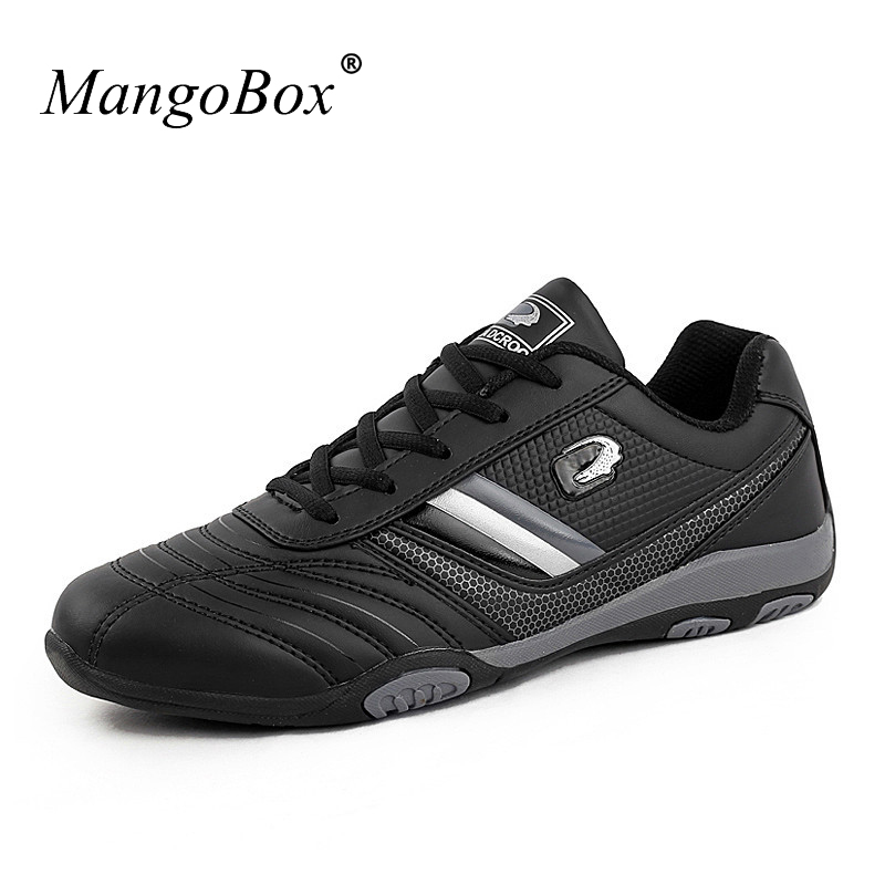 Hot 2017 Mens Sports Shoes Running Black Running Sneakers Leather Mens Runners Spring/Autumn Original Sport Shoes Cheap
