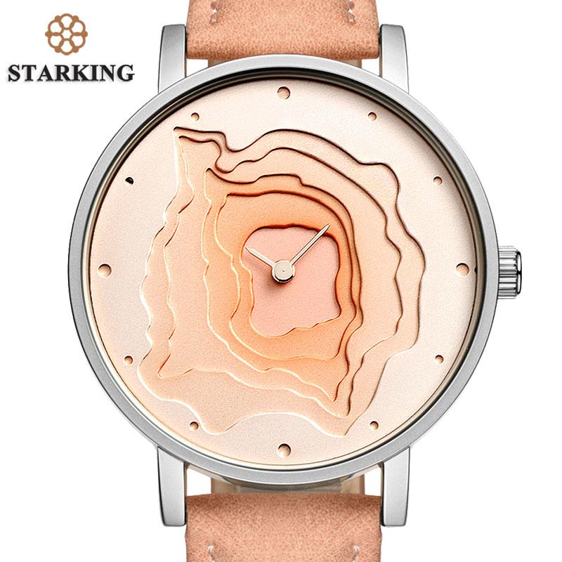 STARKING New Creative Design Watch Mineral Stylish Quartz Women Watch Casual Fashion Ladies Gift Wrist Watch Vintage Timepieces
