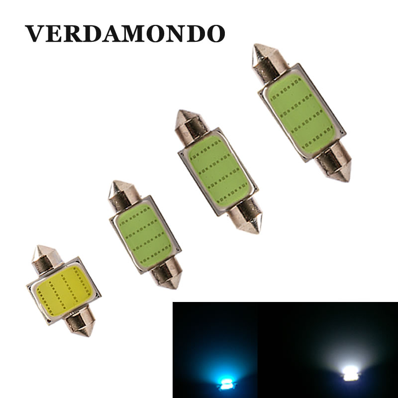 31mm 36mm 39mm 41mm COB LED Car Auto Festoon Dome Interior Map Lights Bulb Lamp For DC 12V DE3175 White Ice Blue