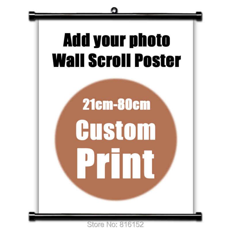 あなたの写真家族ベビーお気に入りの写真アニメキャンバスカスタムプリントポスタースクロール壁掛け絵画ホームルームのインテリア 14 サイズ