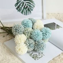 3pcs flowers for wedding artificial dandelion ball flower arrangement home decorative silk