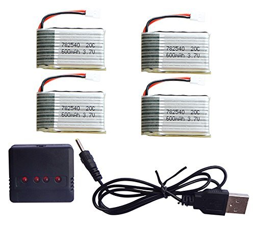 4pcs * 3.7V 600mah 25c Lipo Battery with 4 In 1 Battery Charger for Syma X5 X5C X5C-1 X5SC X5SW Parts eachine 3 7v 750mah 25c lipo battery for eachine e30 e30w syma x5 x5c x5sc x5sw cx30w