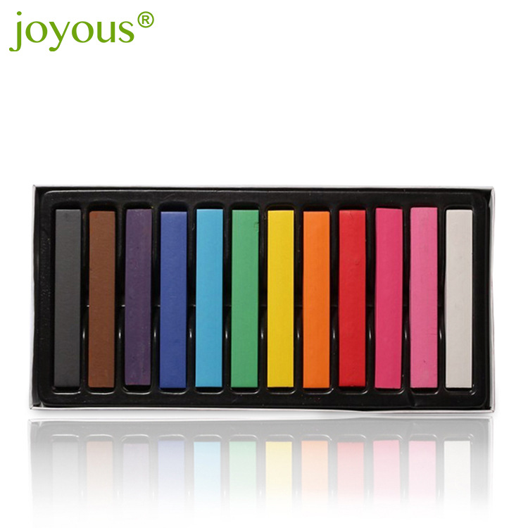 Hair color pen One-time hair dye 12 colors/set to choose temporary hair color chalk dyed hair powder chalk CH010 ...