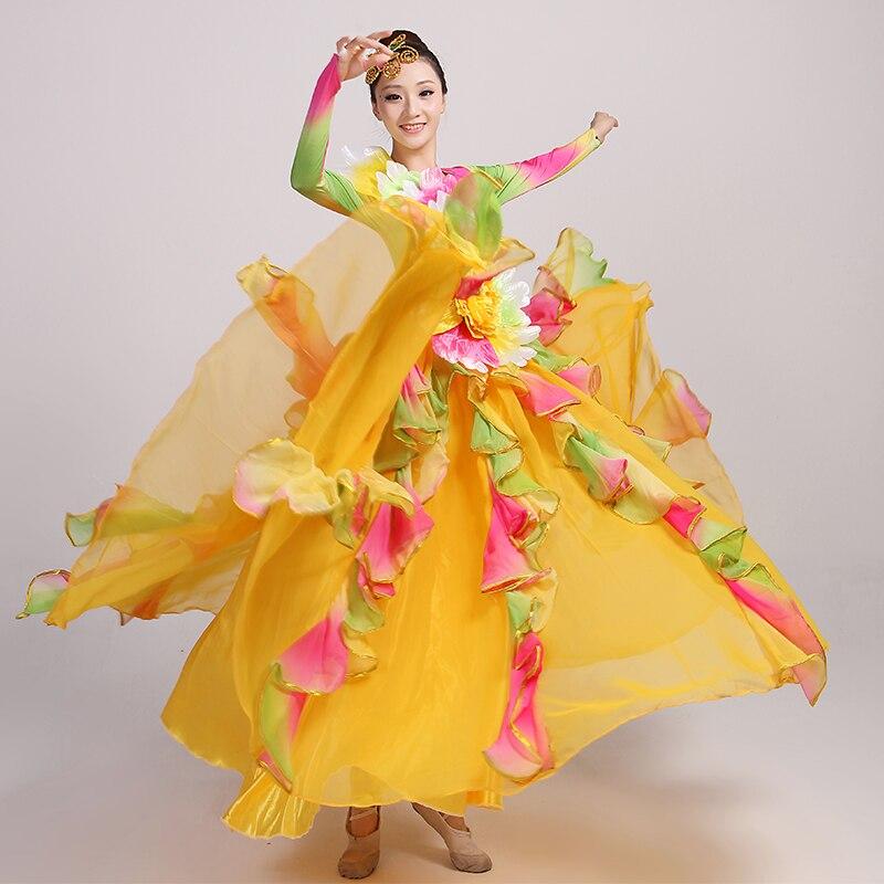 460a12b920914 Corrida espagnole danse du ventre robe jupe longue robe Flamenco fille  jupes jaune Flamenco robes pour femmes filles dans Flamenco de Nouveauté    Usage ...