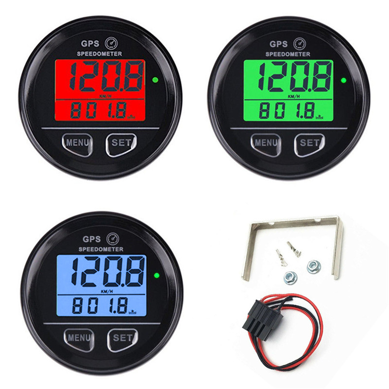 New Motorcycle GPS Speedometer Odometer Portable Fit For UTV Marine Boat Buggy Truck High Quality Accurate Secure Durable#296334-in Speedometers from Automobiles & Motorcycles    1
