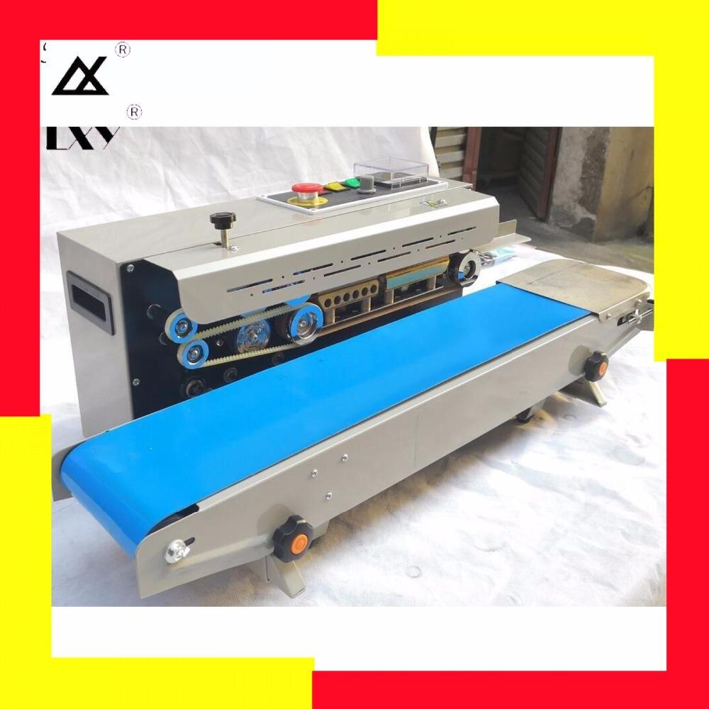 Continuous Sealer Sealing Machine Film Impulse Sealer Plastic Bag Soild PressCoder Band Expanded Food Band Sealer Free Shipping