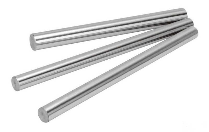 1 sztuk 8mm wał liniowy 100 150 200 250 300 350 400 500 600 mm chromowane utwardzony pręt wał ruchu liniowego części cnc 3d części drukarki