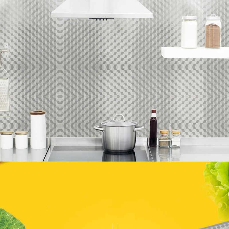 Admirable Thick Waterproof Aluminum Foil Kitchen Stickers Self Adhesive Caninet Drawer Stove Sticker Wallpaper Roll Home Decor Interior Design Ideas Truasarkarijobsexamcom