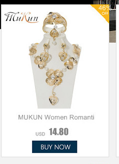 MUKUN Dubai Gold Color Jewelry Sets For Women African Beads Necklace Earrings Bracelet Rings Party Wedding Bridal Accessories