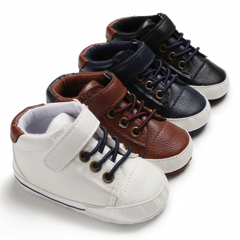 Infant Toddler Baby Shoes Fashion High Top Newborn Kids Girls Boys Sports Shoes Soft Soled First Walkers Booties