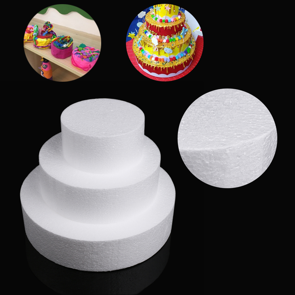 New 4/6/8inch White Sugarcraft Dummy Party DIY Patrice Model Cake Foam Mould Round Polystyrene Styrofoam Kitchen Accessories