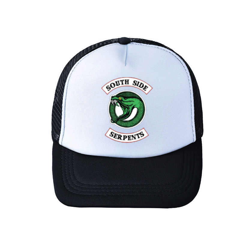 2019 Riverdale South Side Serpents Adult Cosplay Trucker Cap Archie Baseball Hat Cap Summer Riverdale Embroidery Hat Breathable