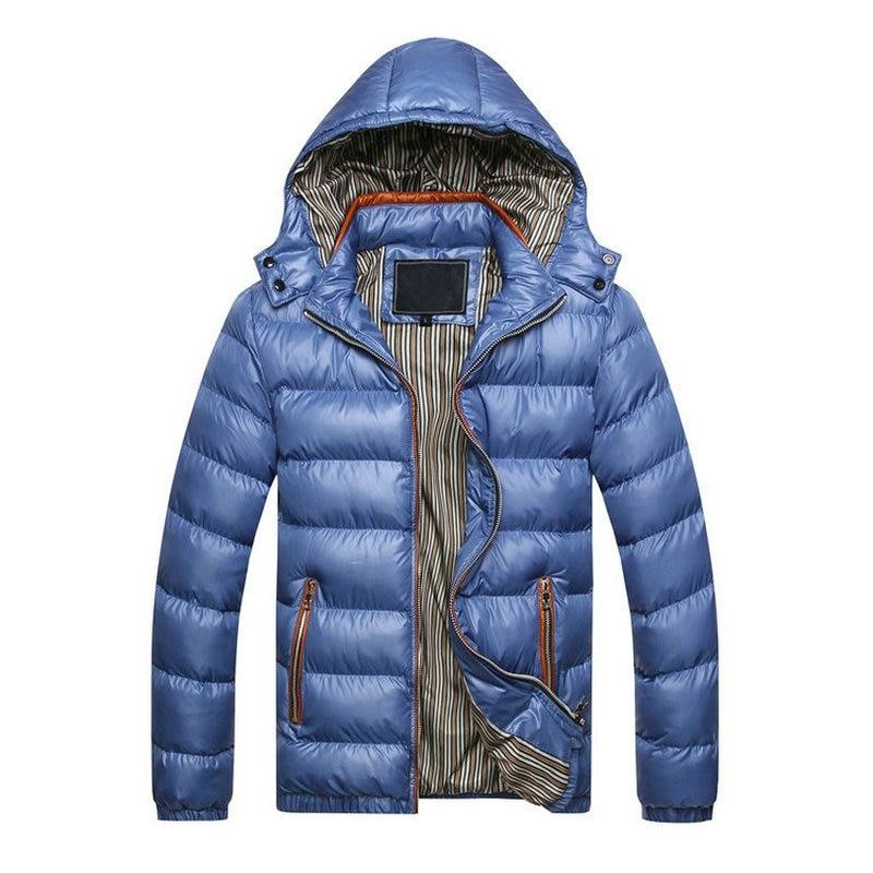 2018 Autumn Winter Jacket Men Casual font b Slim b font Fit Hooded Spring Parka Men