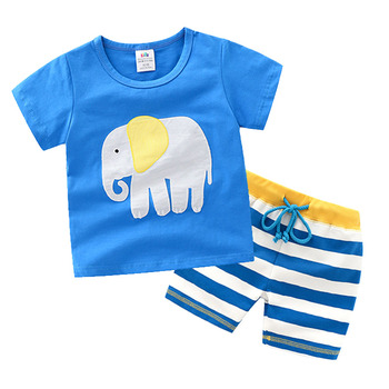Children's Clothing Set Summer Baby Boy Short Sleeve T-shirt Casual Cotton Pant Clothes Set for Kids Boys Girls 4-14 Years 1