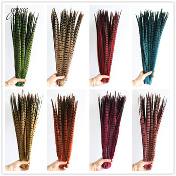 100Pcs/Lot 55-60CM Natural Pheasant Tail Feathers Crafts High Quality DIY jewelry Wedding Decorations Feather Pheasant plumes