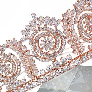 Image 3 - Tiaras And Crowns Fashion Elegant Bridal Crowns For Women Wedding Gift Hair Accessories BC4847 Hair Jewelry Corona Princesa