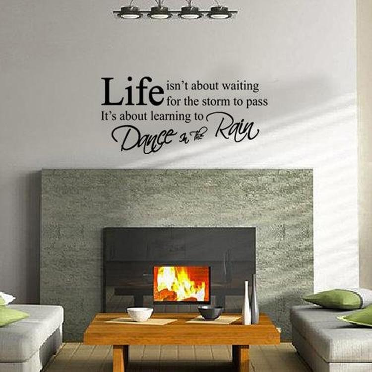 de moda las letras inglesas vinilo saln diy pegatinas pared del dormitorio del pvc negro decoracin