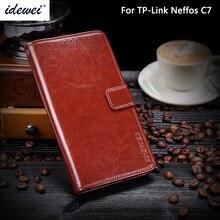 TP-Link Neffos C7 чехол Роскошный кожаный чехол для телефона для TP-Link Neffos C7 защитный флип чехол кошелек Чехол 5,5″