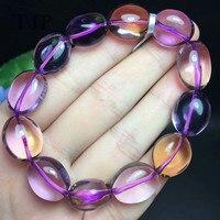 Мм 11,5*17 мм yu натуральный фиолетовый желтый кристалл браслет с сертификатом вместе манжеты ювелирные украшения/