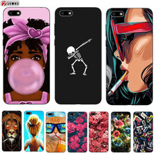 Voor Huawei Y5 Lite 2018 Case Coque Y 5 Lite 2018 Case Zachte Siliconen TPU Back Cover Phone Case Voor huawei Y5 Y5Lite 2018 DRA-LX5(China)