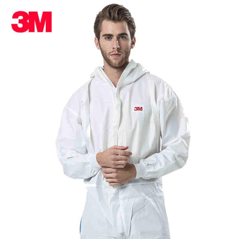 3M Men Women Disposable Anti-static Coverall Hooded Cleanroom Garments Dust-proof  Work clothing Paint Factory uniforms Overalls el izi okumali silah kasası