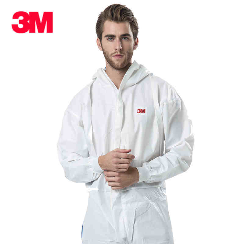 3M Men Women Disposable Anti-static Coverall Hooded Cleanroom Garments Dust-proof  Work Clothing Paint Factory Uniforms Overalls