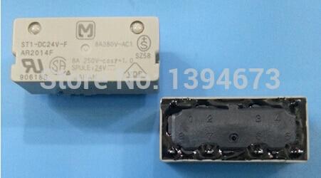 HOT NEW relay ST1-DC24V-F ST1-DC24V ST1DC24V 24vdc DC24V 24v DIP6 new cad50bdc dc24v tesys d series contactor control relay 5no 0nc
