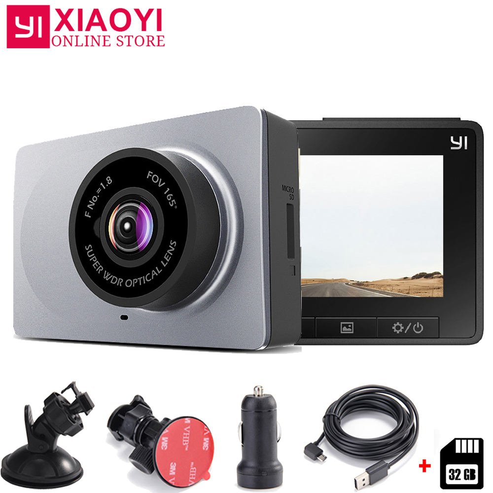 Xiaomi YI Smart Dash Camera Car DVR 165 Degree 1080P 60fps Car Detector 2 7 ADAS